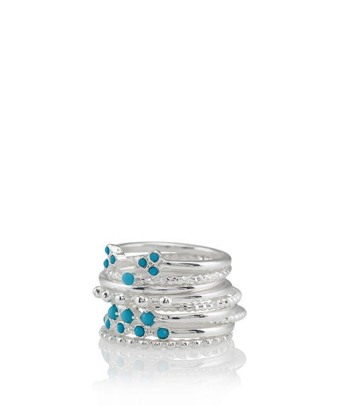 SILVER STELLA BOHO RING PACK