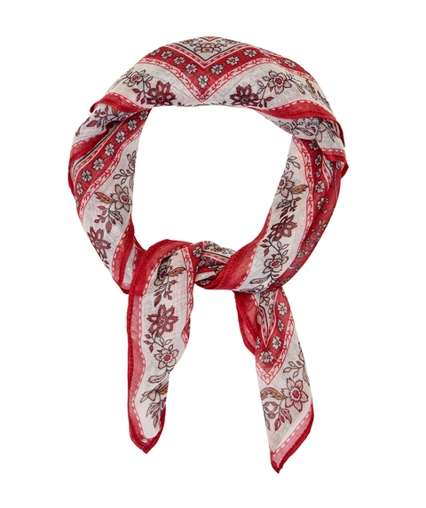 RED FLORAL BOHO KERCHIEF