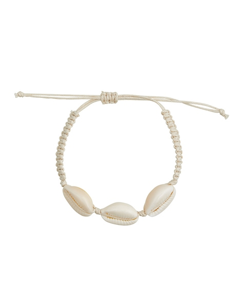 NATURAL THREAD COWRIE SHELL BRACELET