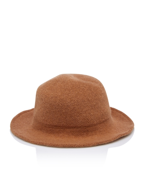 TAN WINTER BUCKET HAT