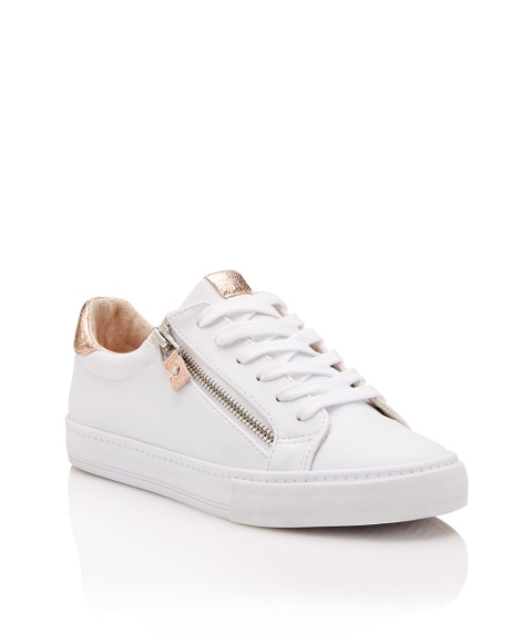 TIFFY SPLICED ZIP SNEAKER