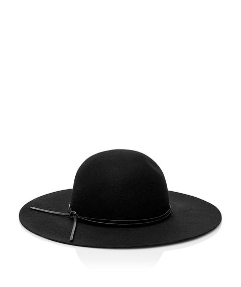 BLACK ROCKY FELT FLOPPY HAT
