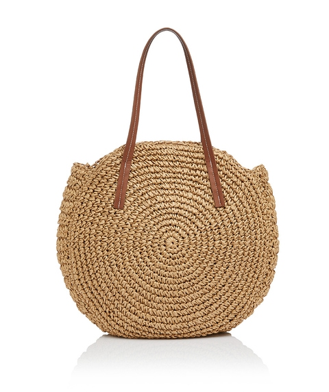 CASSIE ROUND WOVEN TOTE BAG
