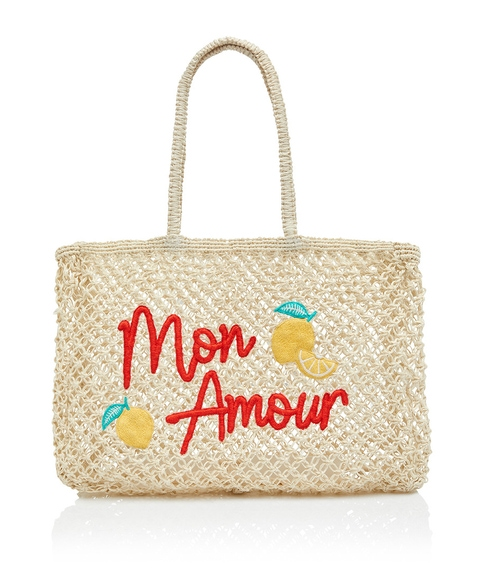 MON AMOUR WOVEN TOTE BAG