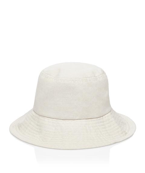 NATURAL LINEN BUCKET HAT