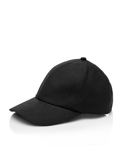 BLACK LINEN CAP