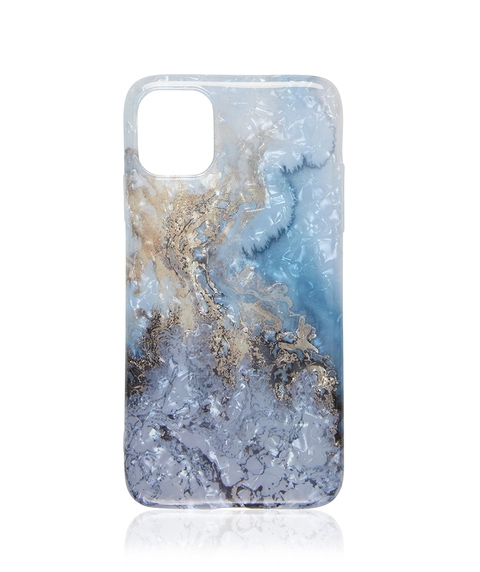 XR/11 BLUE METALLIC MARBLE PHONE CASE