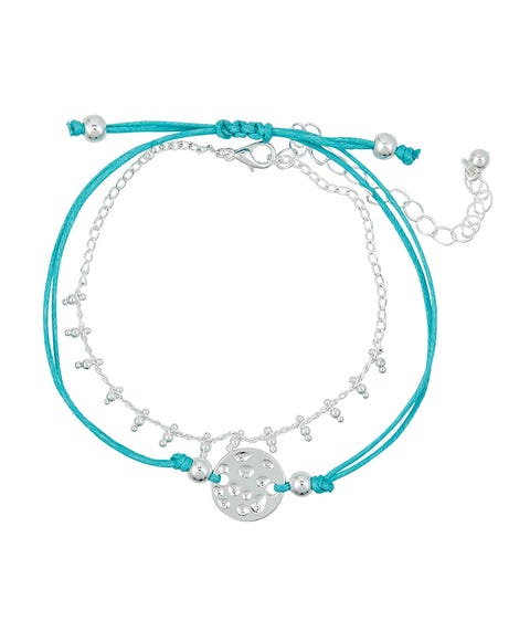 TURQUOISE THREAD & DISC WRIST PACK