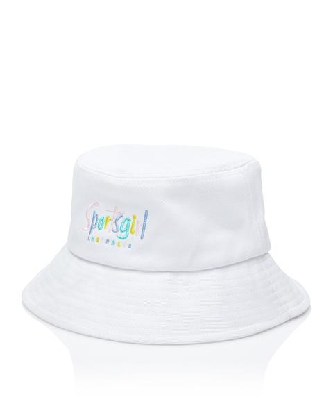 SPORTSGIRL BUCKET HAT - WHITE DENIM