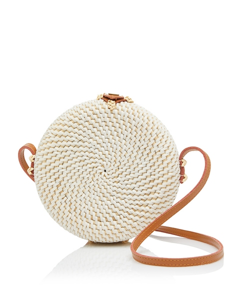 BEAU ROUND WOVEN SLING BAG