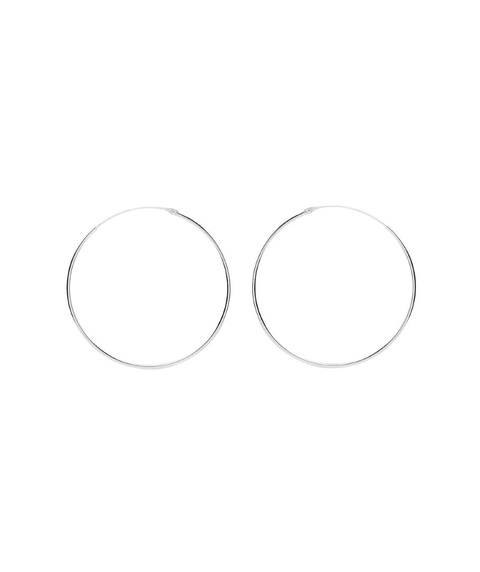 STERLING SILVER MEDIUM HOOP EARRING