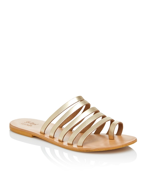 PAULA LEATHER STRAPPY SLIDE