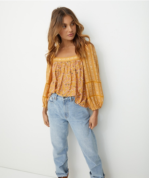 SPLICED BOHO BLOUSE