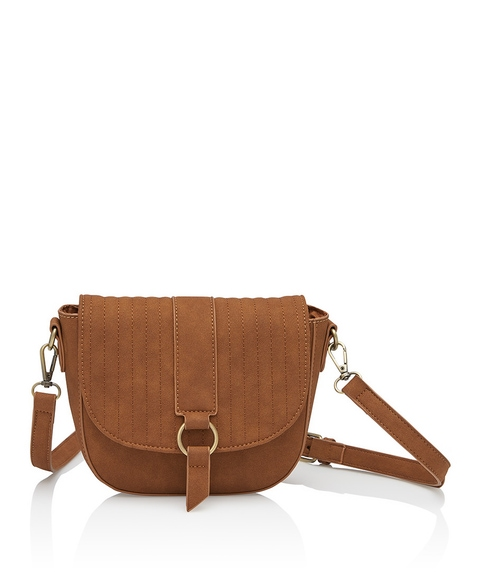 MEGAN QUILTED BUCKLE SLING BAG