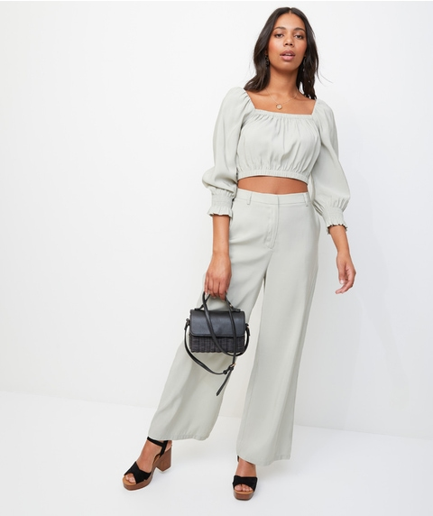 PUFF SLEEVE CO-ORD TOP