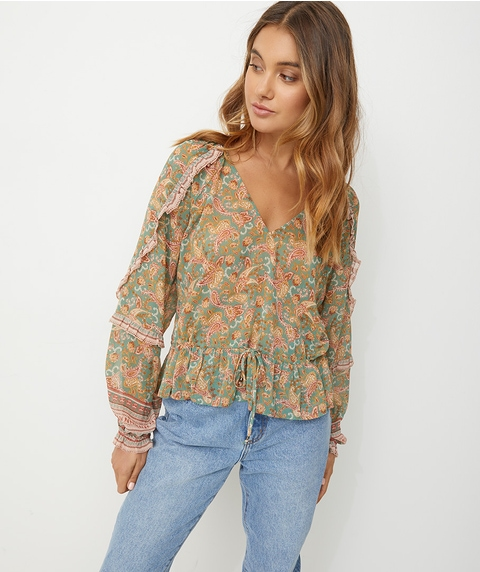 GYPSETTE SHEER BLOUSE