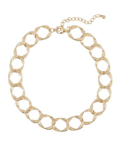GOLD CHUNKY LINKED NECKLACE