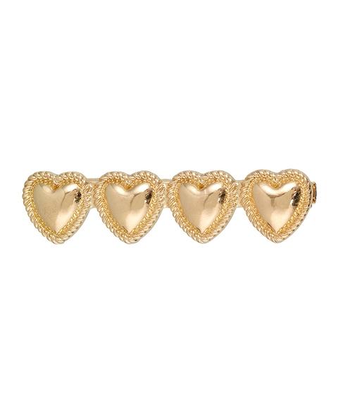 GOLD HEART HAIR CLIP