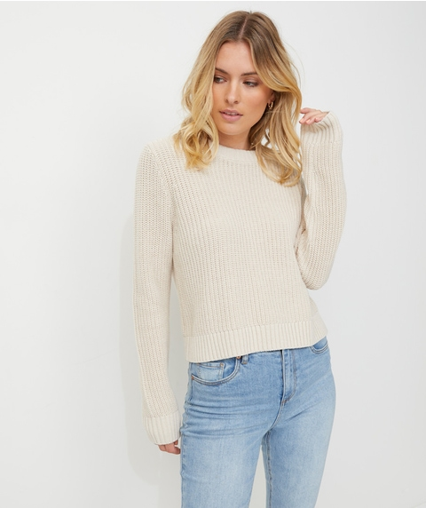 EVERYDAY CROP KNIT JUMPER
