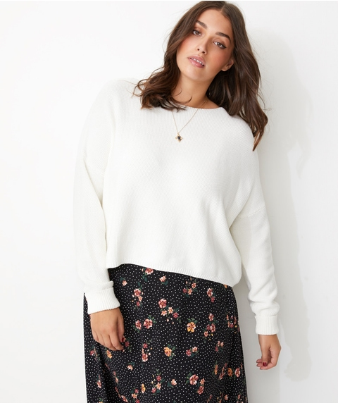 RELAXED TUCK STITCH JUMPER