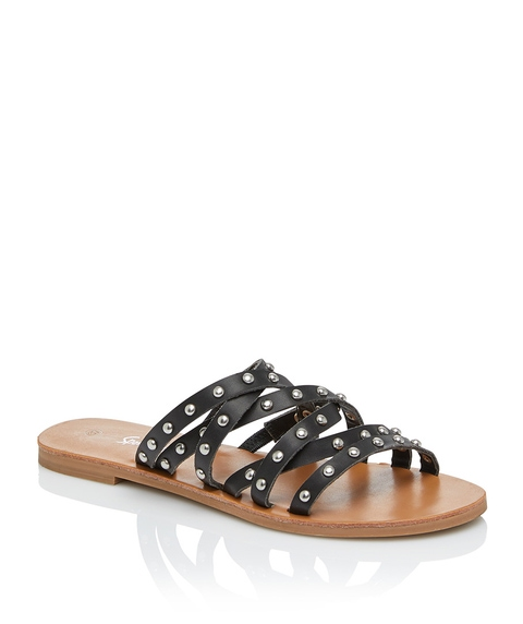 MARIE STUDDED STRAPPY SLIDE