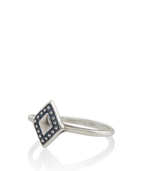 SS DIAMOND TEXTURED RING