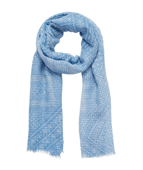 CORNFLOWER BLUE TILE PRINT SCARF