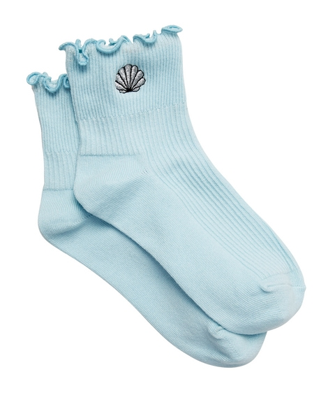 SHELL LUREX FRILL ANKLE SOCK