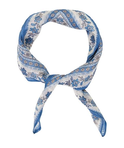 BLUE FLORAL BOHO KERCHIEF