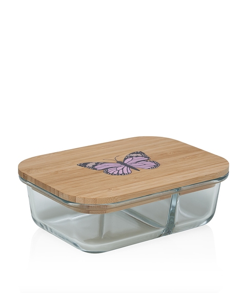 BAMBOO & GLASS BENTO LUNCH BOX – BUTTERFLY