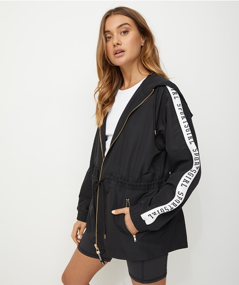 RECYCLED FABRIC WINDBREAKER