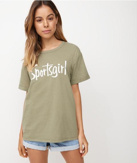 SPORTSGIRL TEXTURED T-SHIRT