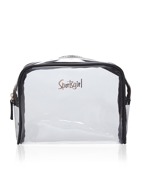 GIGI BEAUTY BAG - CLEAR/BLACK
