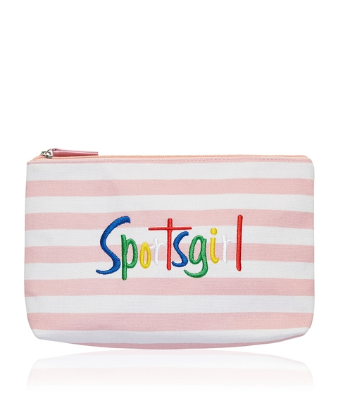 EMILY BEAUTY BAG - BLUSH STRIPE