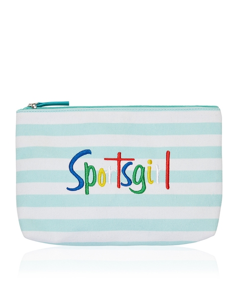 EMILY BEAUTY BAG - MINT STRIPE