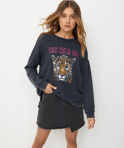 LONGLINE WASHED TIGER SWEAT