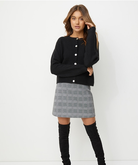 CHECK MINI JACQUARD SKIRT