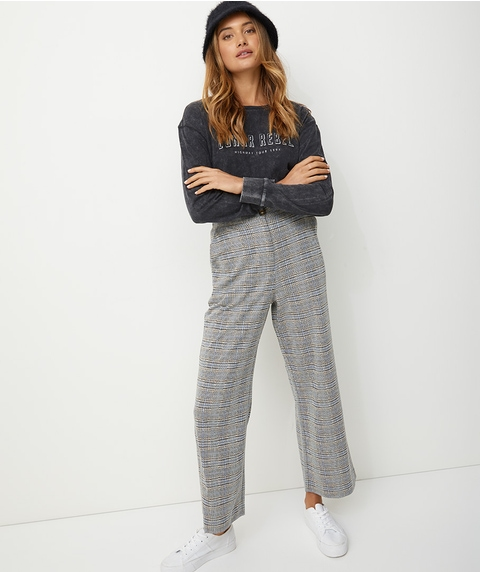 CHECK JACQUARD PANT CO-ORD