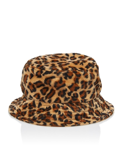 FLUFFY ANIMAL BUCKET HAT