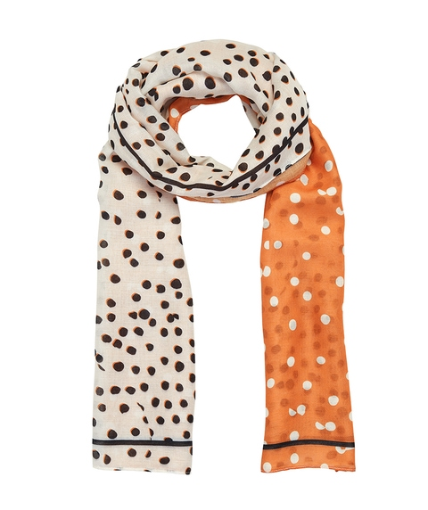 COLOUR BLOCK SPOT SCARF