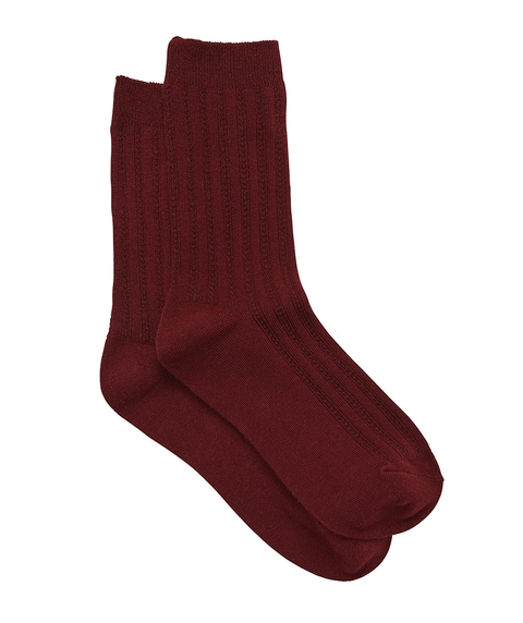 BURGUNDY BACK TO BASICS SOCK
