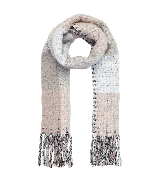 BLUSH CHECK SCARF