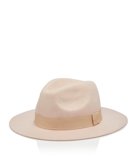 PINK FELT PANAMA HAT