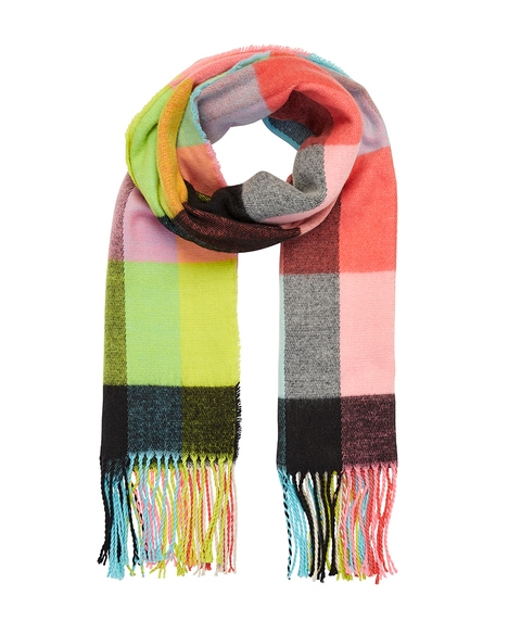 NEON ECO CHECK SCARF