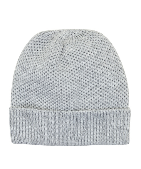 GREY ECO TURN UP BEANIE