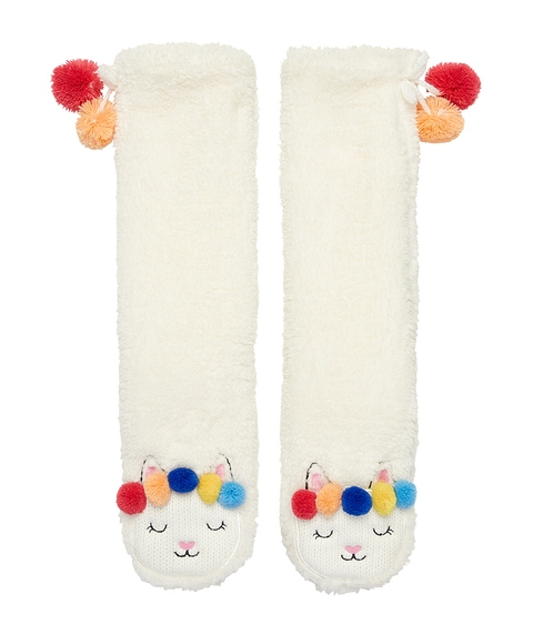 LLAMA TALL SLIPPER SOCK