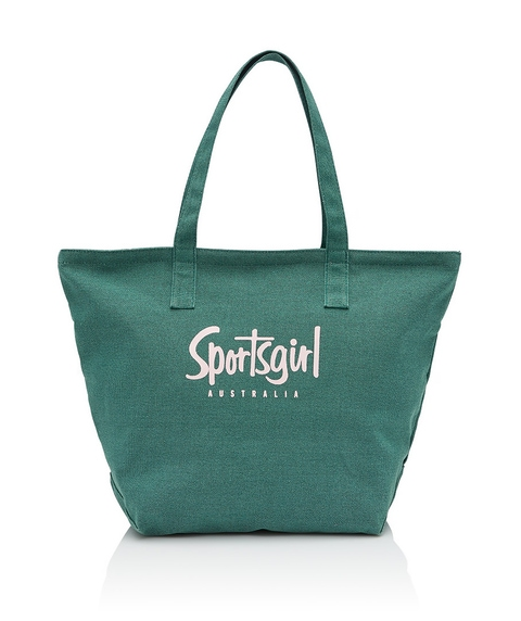 REWIND TOTE BAG - WASHED GREEN