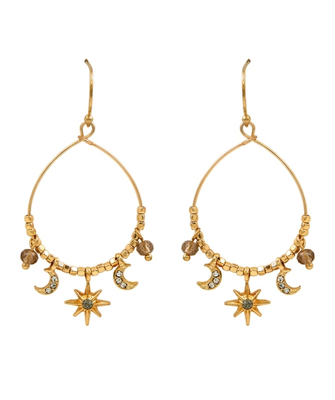 ZOE CELESTIAL CHARM EARRINGS