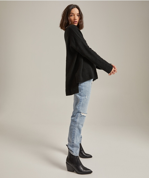 BOUCLE ROLL NECK JUMPER