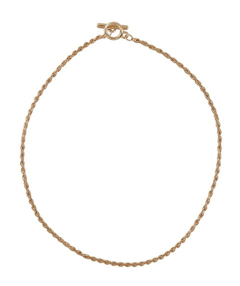 GOLD TOGGLE CLOSURE NECKLACE